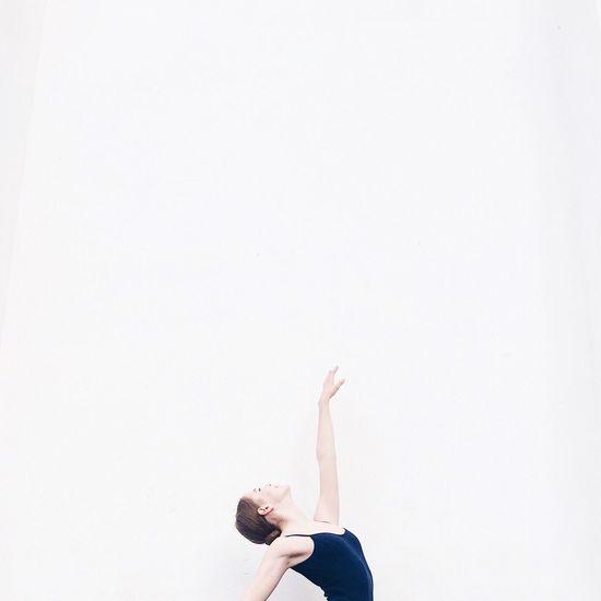 Ballet Dancer Against White Background