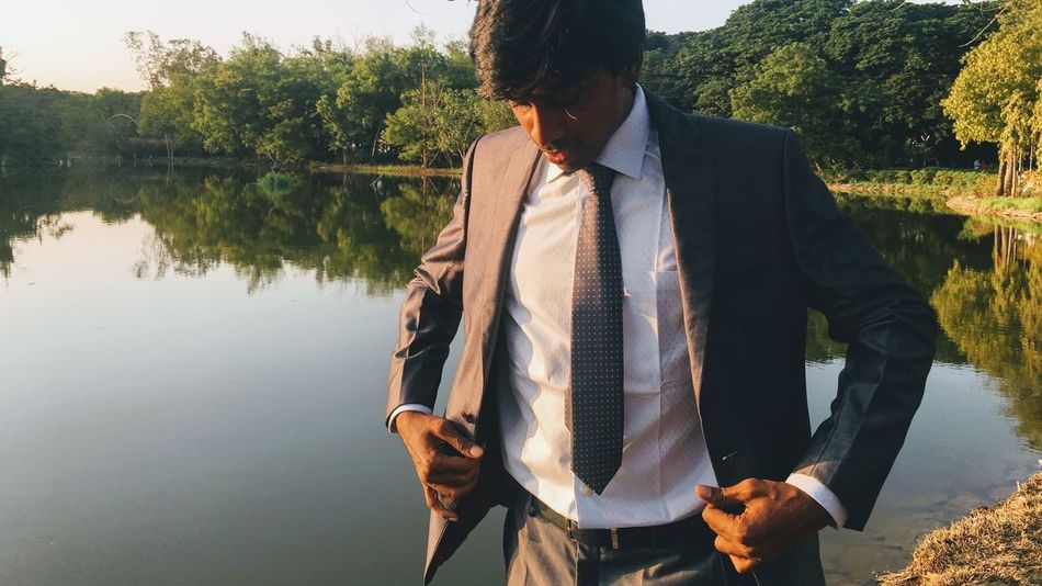Pre Marriage Photoshoot Pre Marriage Photoshoot Masculinity Suitup Suit Men In Suits Lake View Lakeside Tranquility Evening Man Nature Makes Me Smile Water Business Men Lake Scenics Inner Power The Fashion Photographer - 2018 EyeEm Awards