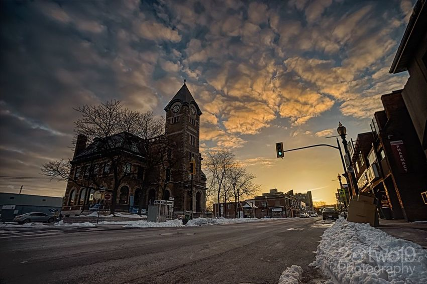 Old post office at sunset Sonya7 Sunset Dundas Clouds Historical Building Street