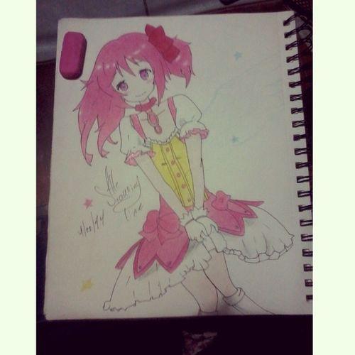 PuellaMagiMadokaMagica Drawin  Animecute Cute prismacolor fun madoka color animefans my draw