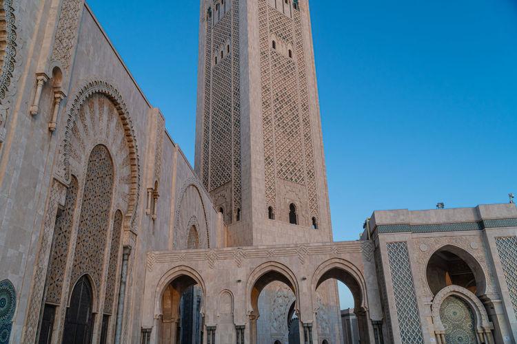Hassan ii mosque, exterior of hassan 2 mosque in casablanca morocco