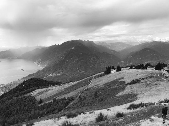 Cardada-Cimetta, Ticino, Switzerland Locarno Ticino Switzerland Mountain Blach And White Beauty In Nature Mountain Range Tranquil Scene Scenics - Nature Tranquility Landscape Mountain Peak Adventure Idyllic
