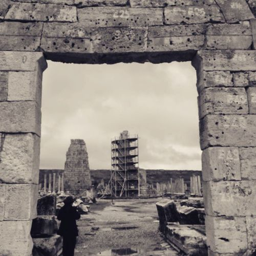 Sehirkapisi Perge Antalya Historical Roman Roma Antikkent City Fujix20 Blackandwhite
