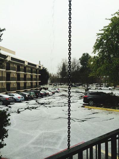 First huge hail storm in Sacramento Halestorm