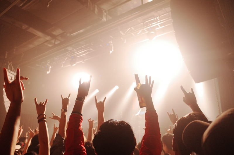 LIVEHOUSE Human Hand Popular Music Concert Fan - Enthusiast Performance Group Fame Crowd Musician Audience Pop Rock Live Event Music Concert Rock Music Rock Group Concert Hall  Stage Light Music Festival Entertainment Occupation Capture Tomorrow