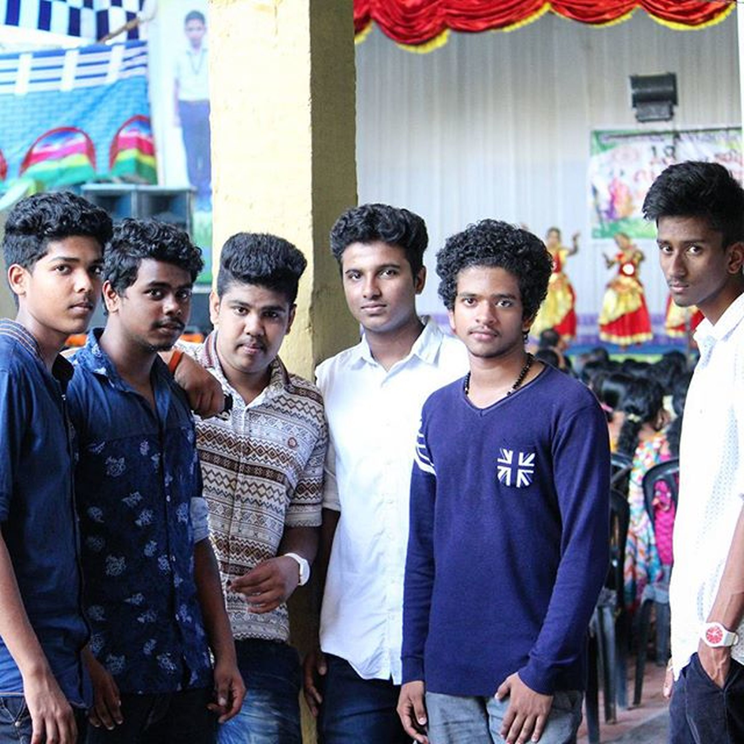togetherness, lifestyles, leisure activity, portrait, happiness, casual clothing, bonding, person, friendship, looking at camera, young men, love, front view, large group of people, smiling, standing, men, young adult