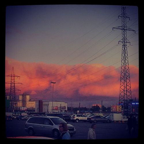 спб  вечер  закат  небо питер петербург облака