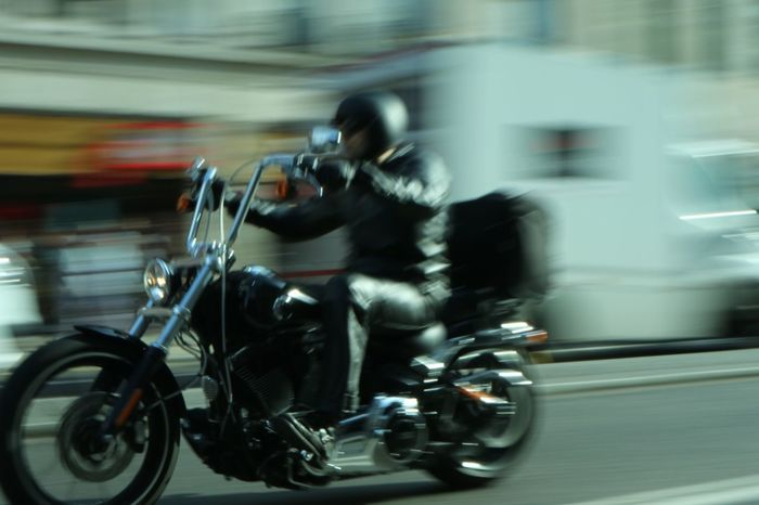 Speed 2 Blurred Motion Speed Motorcycle Real People Transportation Motion Riding Mode Of Transport Men Lifestyles Leisure Activity Road Land Vehicle Outdoors Full Length London Biker Adult The Street Photographer - 2017 EyeEm Awards