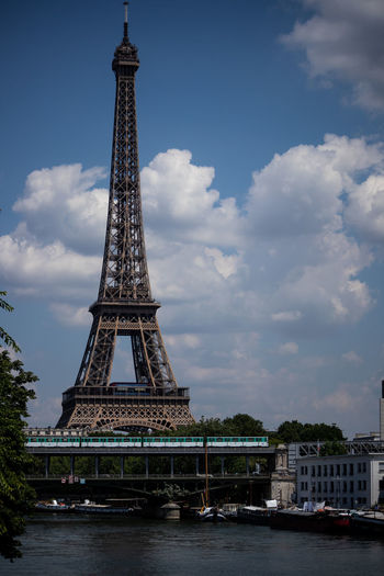 Metro Architecture Building Exterior Built Structure City Cloud - Sky Day Eiffel History Iron - Metal Metal Nature No People Outdoors Sky Tall - High The Past Tourism Tower Travel Travel Destinations Water
