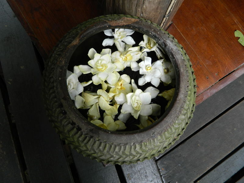 lanna culture background Chiang Mai | Thailand Decor Lanna Culture Objects Tradditional Flower Golden Hour Lanna Spa Wooden House