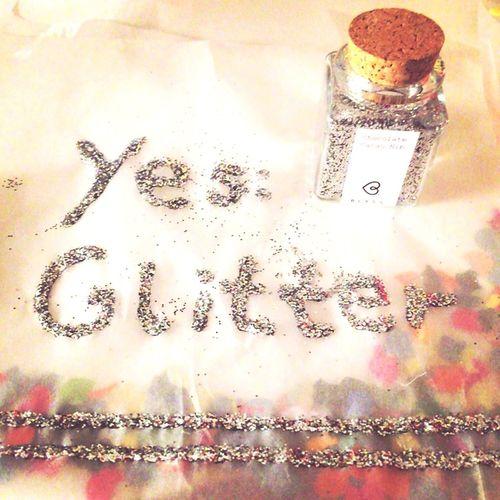 Glitter away!