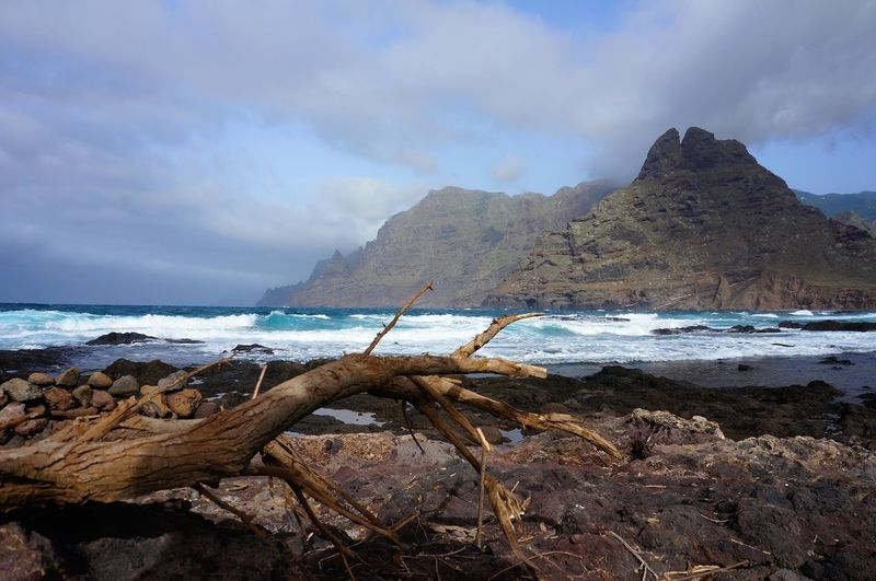 Sea Beach Sand Cloud - Sky Wave Outdoors No People Water Sky Nature Day tenerife Tenerife