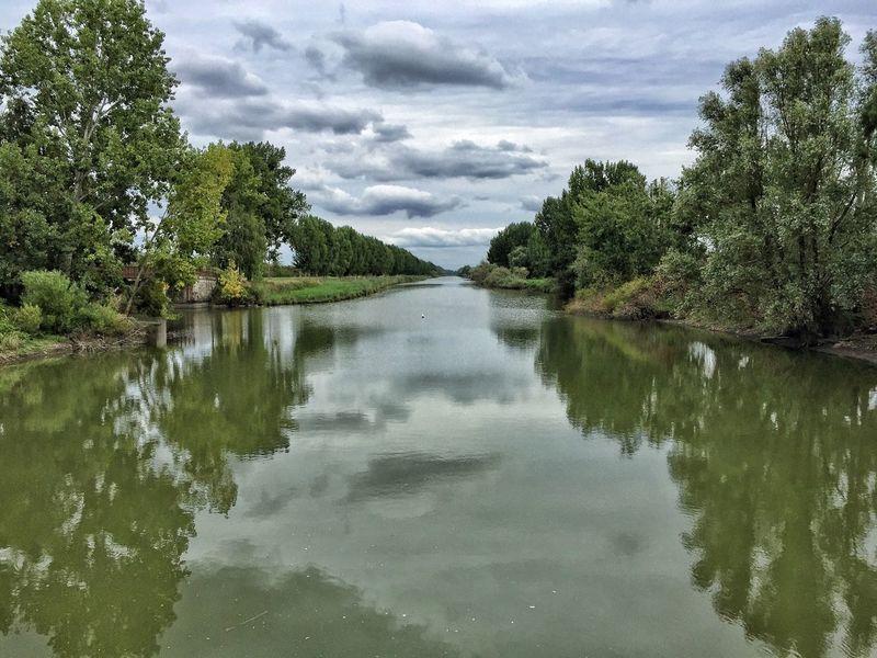 Tree Nature Water Reflection Tranquility Outdoors Sky Cloud - Sky Canal De La Martinière