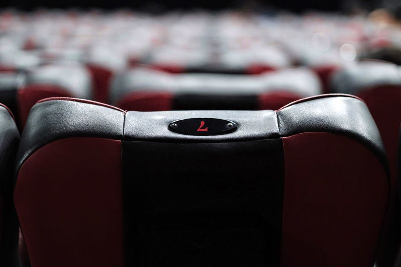 Close-up of empty seats on chair