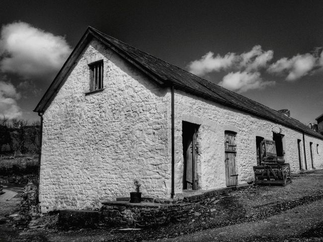 Wales Photography Taking Photos Check This Out Old Building  Architecture Farm Farm House Farm Yard Black And White Black And White Photography White Washed White Washed Building Countryside Rural