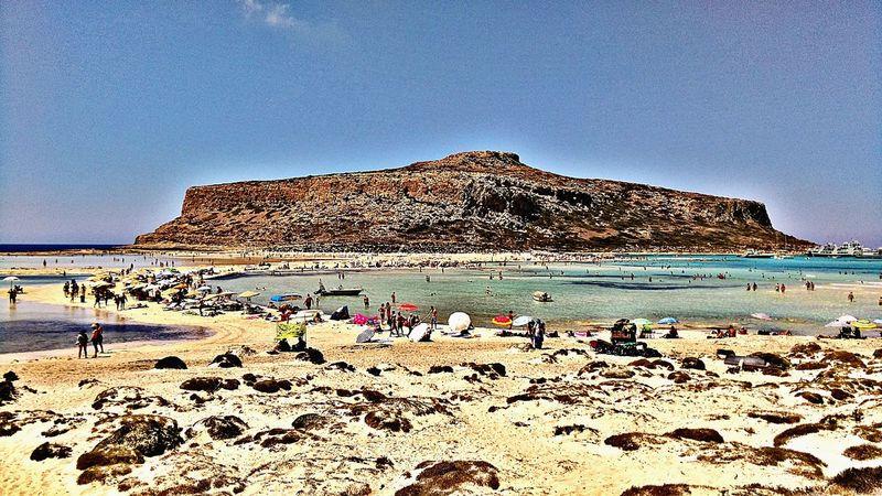 Summer Beauty In Nature Vacations Beach Sand Sea Greece, Crete Balos Balos Lagoon 😚