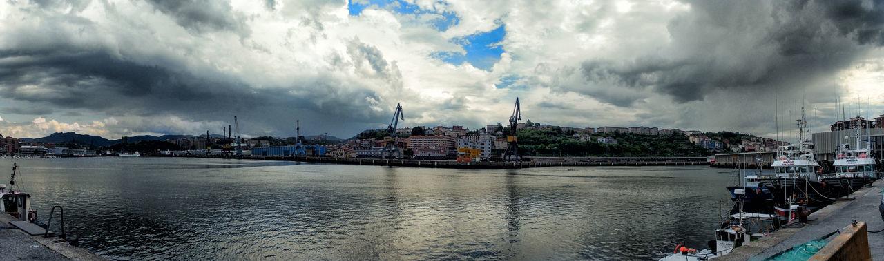 Pasaia - Guipuzcoa - Euskadi Architecture Building Exterior Built Structure Cantabric Sea City Cityscape Cloud - Sky Day No People Outdoors Sea And Sky Seascape Sky Tree Water