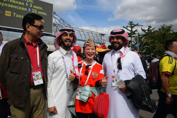 Contact me : roman@alyabev.com Fifa Football Adult Celebration Clothing Day Fan Fans Fifa18 Fifa2018 Front View Glasses Group Of People Looking At Camera Males  Mature Men Men Mid Adult Mid Adult Men Outdoors People Portrait Real People Sky Standing Togetherness Young Adult Young Men