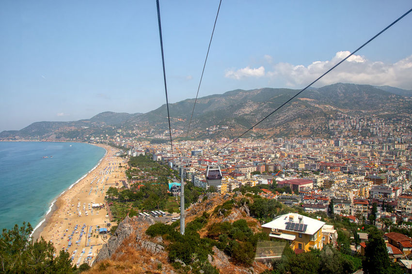 Cablecar Ride Alanya Cable Car Coastline Holiday Transportation Turkey Vacation Time Architecture Beach Beachlife Building Exterior Cablecar Cables And Wires Cityscape Emeraldcoast High Angle View Land Landscape Mountain Nature Sea Sky Tourist Destination Vacation Destination Water