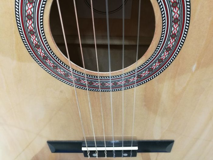 Full frame shot of classical guitar