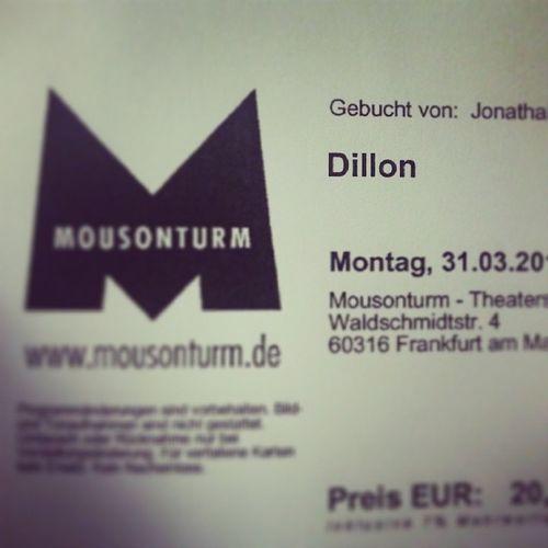 Karten gekauft! Noch 3.5 Wochen bis Dillon ...