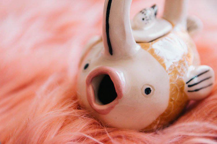 Representation Close-up Indoors  Toy Pink Color No People Human Representation Still Life Pig Piggy Bank Selective Focus Doll Stuffed Toy Mammal Art And Craft Toy Animal Tea Tea Cup Tea - Hot Drink