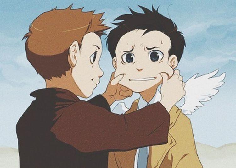 destiel anime > life Destiel Supernatural Misha Collins Jensen Ackles