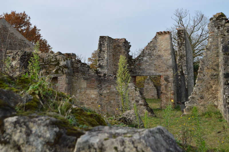 Damaged Deterioration History Old Ruin Oradour S/ Glane Oradour Sur Glane Ruined Solitude Stone The Past Weathered Ww2