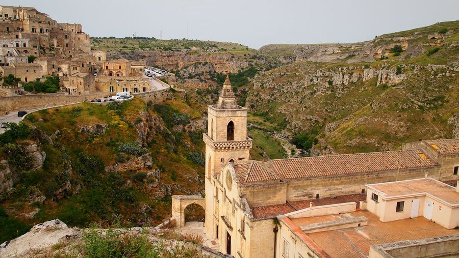 Historic buildings at sassi di matera