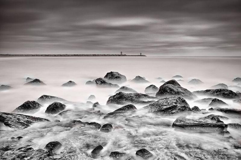 Sea Seascape Long Exposure Blackandwhite Black & White Sea And Sky