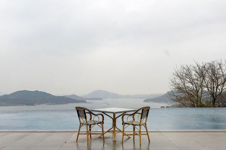 IPhone Photography IPhone Lightroom IPhone7Plus IPhoneography Mountain Table Nature Outdoors Scenics Sky Tranquility Chair Day Tranquil Scene No People Mountain Range Beauty In Nature Water