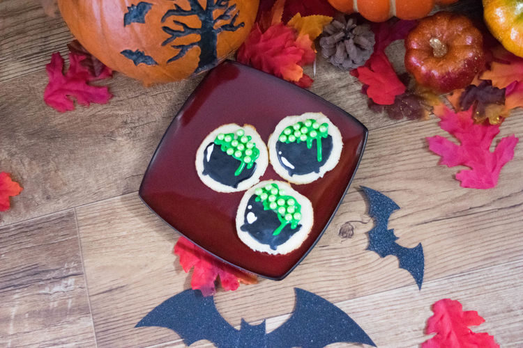 Baked Goods Cookies Halloween Halloween Treats SugarCookies Treats Close-up Day Festive High Angle View Indoors  Multi Colored No People Still Life Sugar Cookies Table