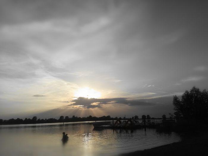First Eyeem Photo See Tree Sunset City Lake Reflection Sky Cloud - Sky Dramatic Sky Lightning Romantic Sky Atmosphere Cloudscape