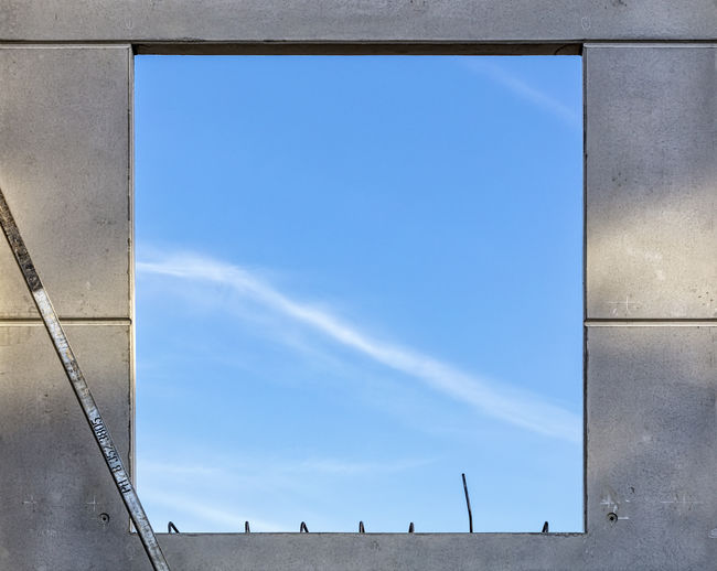 Cloud Blue Concrete Day Geometry No People Outdoors Sky Symmetry