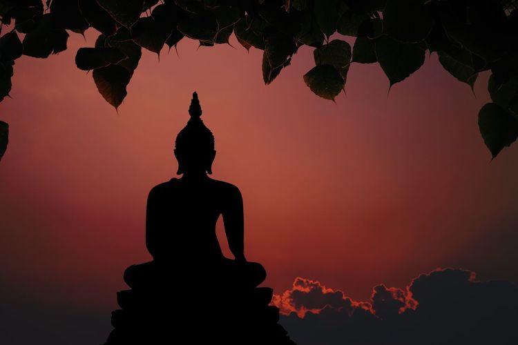 Statue Silhouette Sculpture Religion Buddhism Culture Statue Nature Buddah Buddhism Buddha Statue