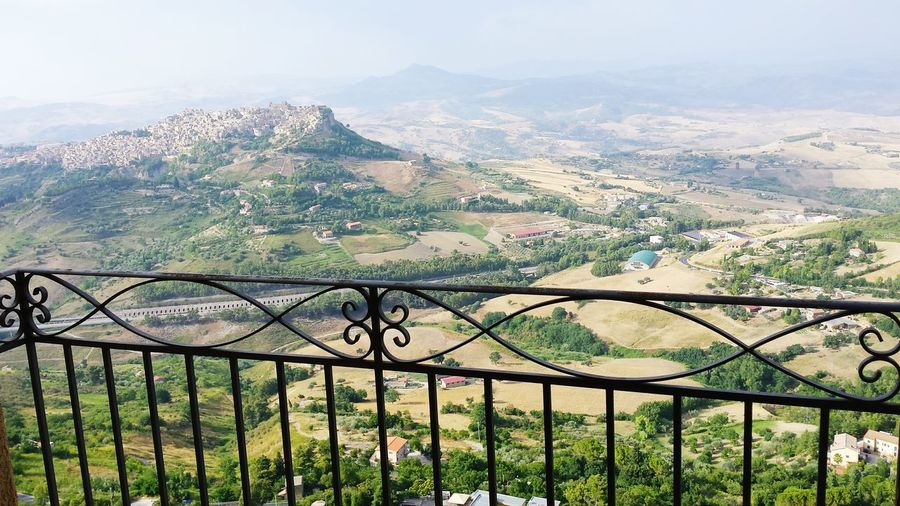 High angle view of calascibetta from balcony