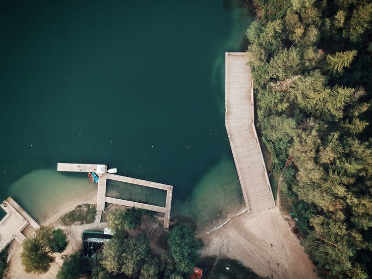 Water High Angle View Day No People Nature Beauty In Nature Pier Autumn Colors Lake Lake View Žalieji Ežerai Autumn Lithuania Lithuania Nature Birds Eye View Aerial View Fresh On Market 2017