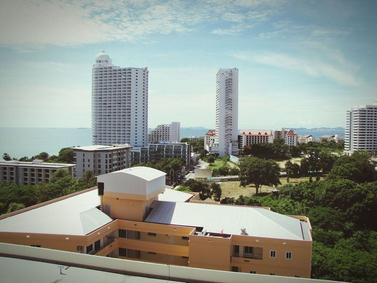 Architecture Bilding Pataya Long Beach Thailand Ocean Travel Jurney World Trees ASIA Sky