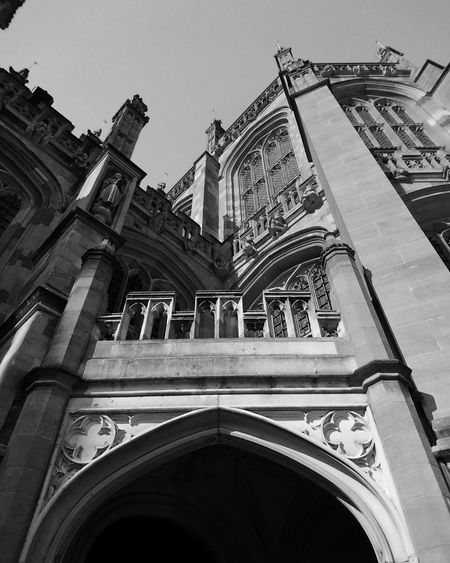 Stgeorgechapel Windsor Castle Blackandwhite Gothic JesusArt Travel Photography Looking Up