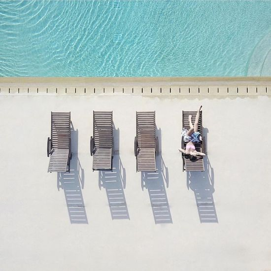 Light Minimalism Fromabove High Angle View Day Relaxation Swimming Pool Capture Tomorrow