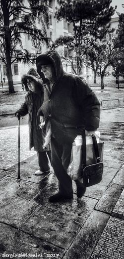 """""""By your side"""" People People_bw People Photography Old Age People"""