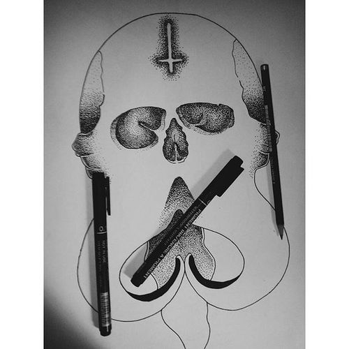 In progresssss!! 💡🔫 Progressketch Progress Manualdesign Manual Design Desain Pretty Skull Draw Illustration DrawSomething Drawing Sketchbook Sketch Drawingpen Drawingbook Penahitam_arts Pencil Art ArtWork Vscogood Vscocam VSCO