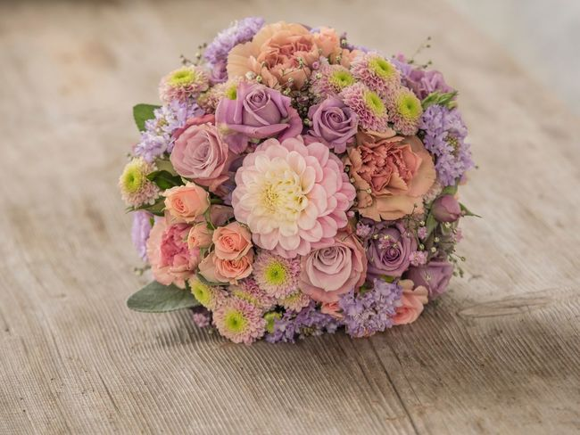 Bride Bouquet Wedding Flower Table No People Bouquet Fragility Close-up Flower Head Day