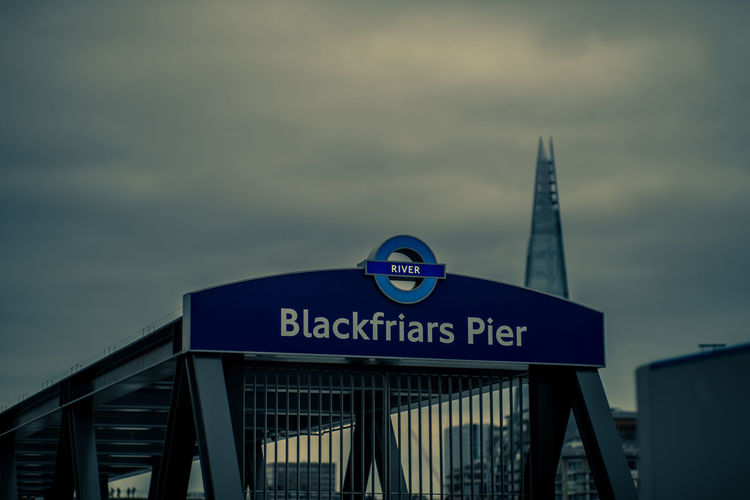 Blackfriars London Pier Architecture Building Exterior Built Structure City Cloud - Sky Day Evening Low Angle View No People Outdoors Shard Sky Text EyeEm LOST IN London Mobility In Mega Cities