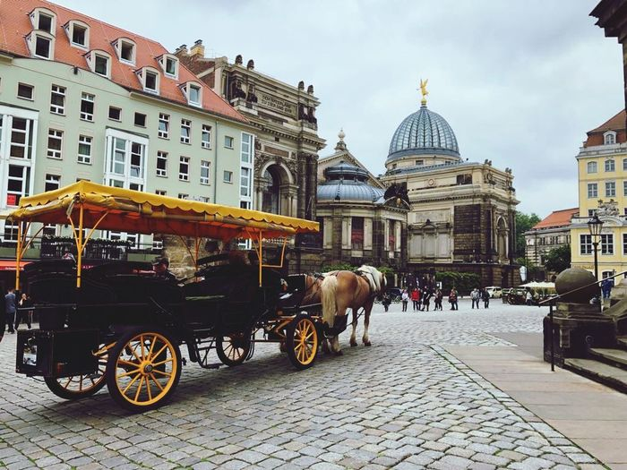 Dresden Old Town Horse Cart Architecture City Travel Destinations Building Travel Street The Traveler - 2018 EyeEm Awards