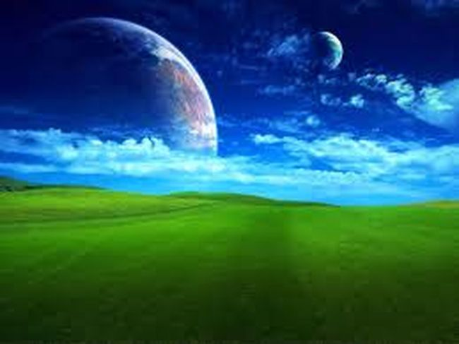 Tranquil Scene Blue Tranquility Scenics Landscape Sky Beauty In Nature Green Color Idyllic Moon Nature Majestic Cloud - Sky Cloud Non-urban Scene Remote Outdoors Ethereal Green Space Exploration