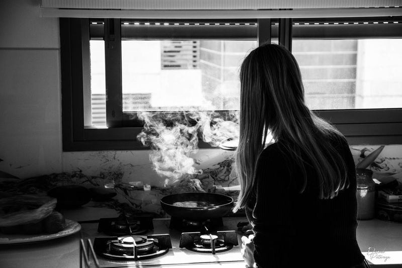 Woman Preparing Food At Home
