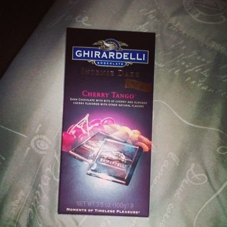 Yummmmmm! ???????? GHIRADELLI Yummmmm  Intensedarkchocolate Cherry tango new newflavor chocolatebar