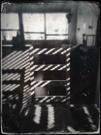Tin Type Hipstamatic Blackandwhite Chair Shadow Shadow And Light Empty Emptiness