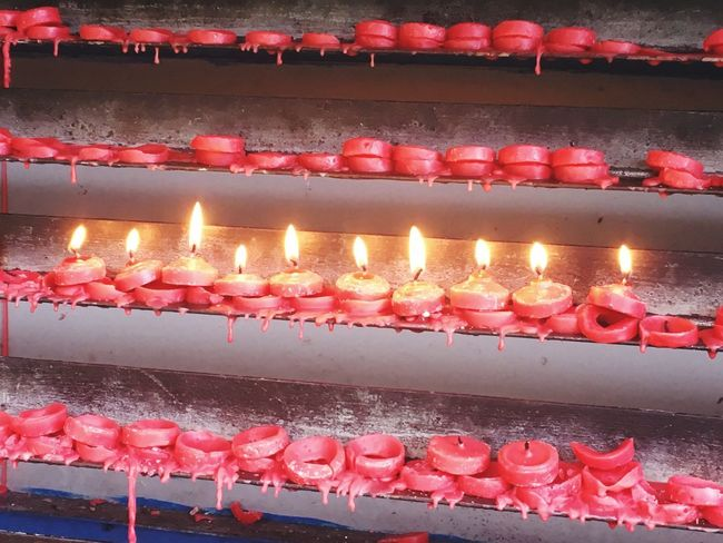 Prayers Flame Burning Candle Glowing Heat - Temperature In A Row Celebration Illuminated No People Indoors  Close-up Diya - Oil Lamp Day